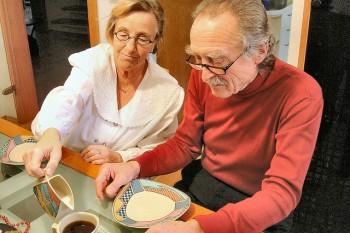 Zdjęcie odżywania osób starszych firmy jesień Wieku